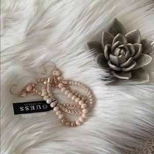 Guess Rose Gold/Pink Bracelet Set